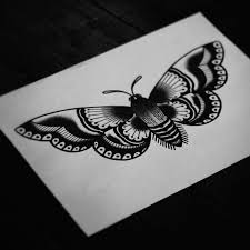 tattoos moth traditional moth and