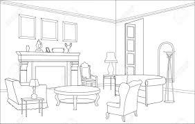 Drawing Room Furniture Furniture Drawing Room Editable Illustration Royalty Free Cliparts