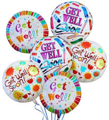 get well soon balloons get well soon baloon bouquet scent violet flowers and gifts