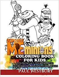 despicable minions coloring book kids coloring