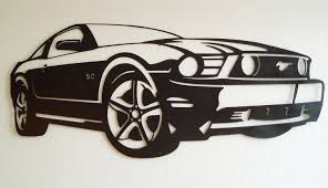 ford mustang metal wall