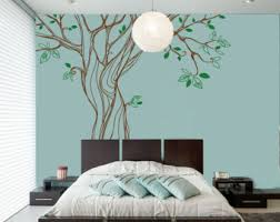 Tree Wall Decals For Living Room Oak Tree Wall Decal Etsy