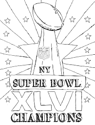 super bowl trophy coloring pages getcoloringpages com