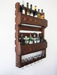 wood wine and or liquor shelf rack pallet by hiddenpondswoodcraft