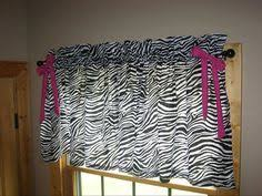 Zebra Valance Curtains Candy Pink And White Zebra Stripe Valance Curtains One Set Two