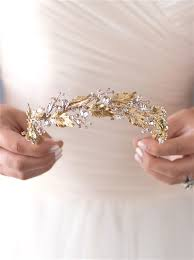 gold headbands botanical leaf gold headband shop gold bridal