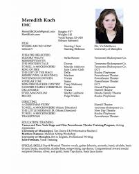 theatre resume example acting resume sample no experience httpwwwresumecareerinfo a good sample acting theater resume template with photo theater resume examples