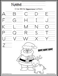 santa capital letter writing practice u2013 madebyteachers