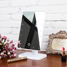 Makeup Mirrors Lighted Lighted Makeup Cosmetic Vanity Mirror Tabletop 20 Led Light Touch