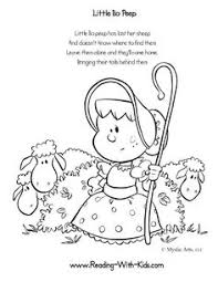 Nursery Rhyme Coloring Pages Printable nursery rhymes coloring pages w graphics maybe give to