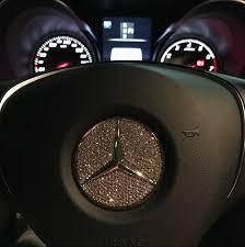 mercedes car emblem bling mercedes emblem for steering wheel logo sticker decal