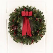 philips 28 prelit decorated artificial pine wreath warm