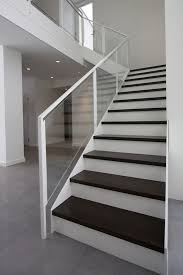Glass Stair Banister Modern Railings Custom Stairs Chicago Modern Staircase Design