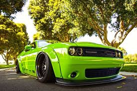 Dodge Challenger Green - liberty walk dodge challenger projecthulk is as mean and green as