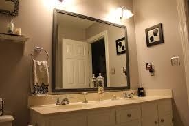 Bathroom Mirror Trim Ideas Bahtroom Usual Door Model Beside Small Wall Art Decor Closed