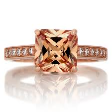 Chocolate Diamond Wedding Ring Set by Trista U0027s 4ct Rose Goldtone Princess Cut Champagne Cz Engagement Ring