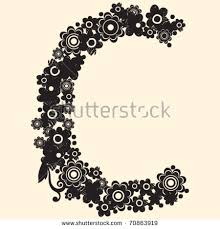 royalty free floral abc decorative letter f 70863922 stock photo