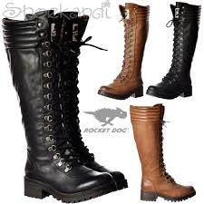womens boots and bromley womens rocket landers bromley knee high lace up boots