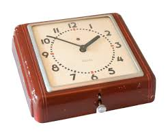 scandinavian wall clock westclox sixties bakelite wall clock eames braakman friso