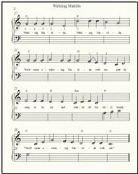 free printable sheet music for xylophone free popular sheet music waltzing matilda for beginner piano solo or