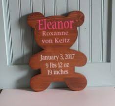 Baby Plaques Personalized Personalised New Baby Boy Wooden Heart Gift Plaque Or Magnet