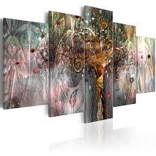 Modern Art Wohnzimmer Wandbilder Xxl Baum Des Lebens Leinwand Bilder Xxl Klimt