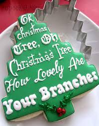 cupookie homespun christmas tree cookie design