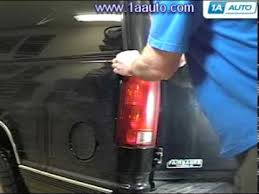 2006 silverado tail light assembly how to install replace taillight chevy silverado gmc sierra suburban