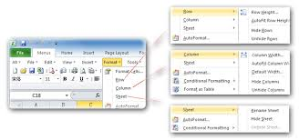 where is the unhide command in microsoft excel 2007 2010 2013