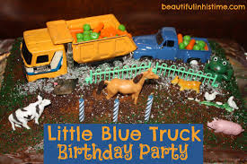 truck birthday party ezra s blue truck 3rd birthday party