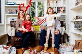 alyson hannigan and her adorable daughters give back for christmas
