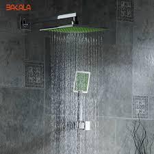 popular bath shower systems buy cheap bath shower systems lots bakala 8 inch bathroom rain shower faucets green abs head hand shower for bath showering system