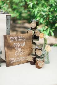 rustic farm to table wedding inspiration jam favors