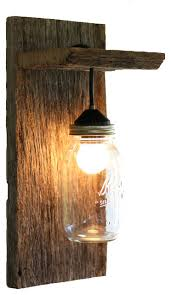 Bamboo Sconce Sconce Elegant Grindstone Design Barn Wood Mason Jar Light
