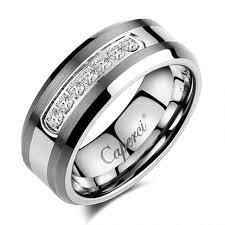 Tungsten Wedding Rings by Wedding Rings Mens Black Tungsten Wedding Bands Black Tungsten