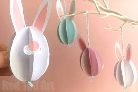 bunny decorations easy paper bunny craft bunny easter decorations ted s