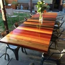 reclaimed wood outdoor table custom outdoor furniture tables custommade com