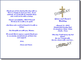 christian wedding programs wedding program template order form