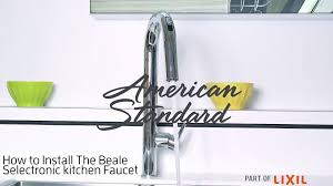beale pull down kitchen faucet with selectronic hands free beale pull down kitchen faucet with selectronic hands free technology american standard
