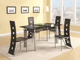 regular height casual dining contemporary seven piece dining set