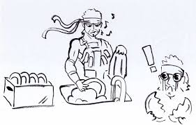sketch of solid snake washing the dishes by bruneburg on deviantart