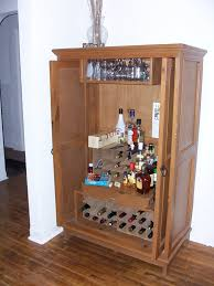 Diy Bar Cabinet Diy Liquor Cabinet Made From Armoire Decofurnish