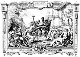 free coloring page coloring engraving pietro aquila allegory