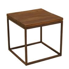 lowes patio side table allen roth belanore 20 in x 20 in rust steel square patio side