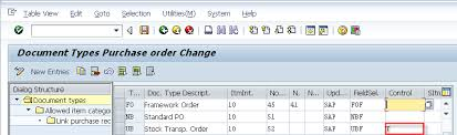 sap document types table sap supply chain management scm stock transport order without