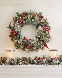 cardinal wreath and garland balsam hill