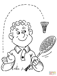 badminton player coloring page free printable coloring pages