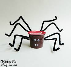 halloween spider jell o pudding cups kitchen fun with my 3 sons