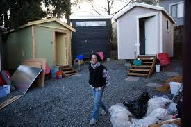 Tiny Home Hotel by Tiny House Village Opens For Homeless In Seattle Seattlepi Com