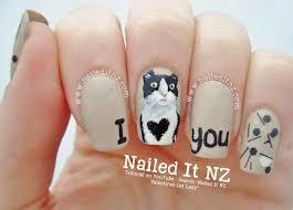 valentines cat lady anti valentine u0027s day nail art